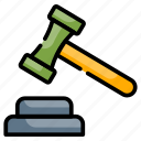 guilt, judgment, law, lawyer, trial icon