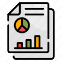 finance, financial report, graph, market, report icon