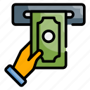 finance, machine, money, service, withdraw icon
