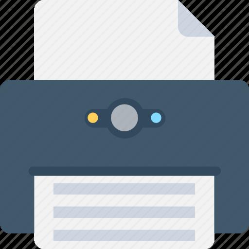 facsimile, fax, office supplies, printer, printing machine icon