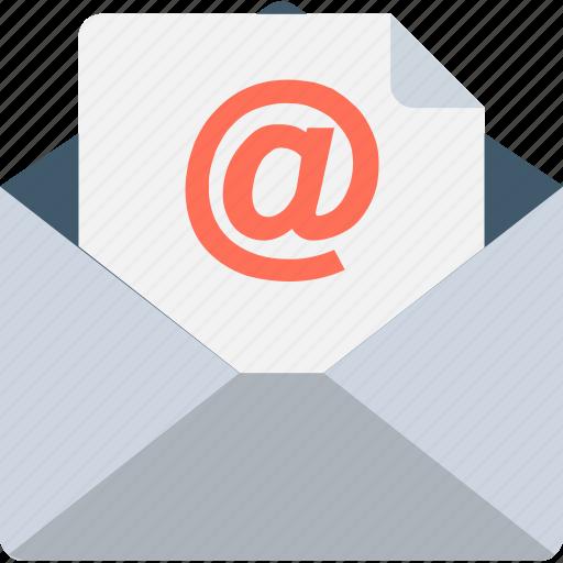arroba, communication, email, envelope, inbox icon