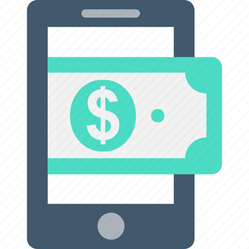 banknote, mcommerce, mobile, mobile banking, transaction icon