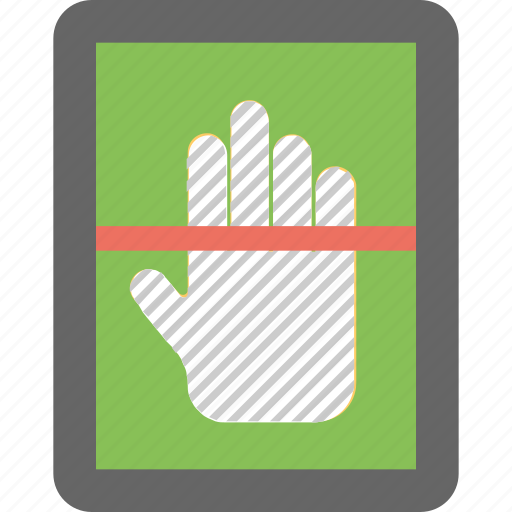 biometric, data, hand, recognition, scan icon