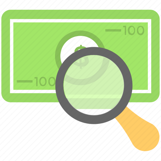 cash, magnifier, money, search money, searching icon