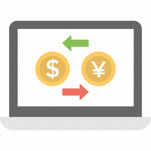 banking, currency, money exchange, trading, wealth icon