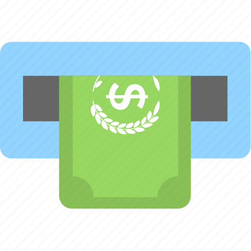 Atm, banking, banknote, cash withdrawal, transaction icon - Download on Iconfinder