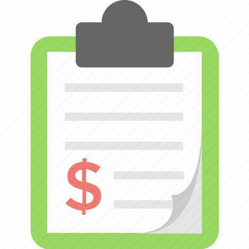 bill, clipboard, document, receipt, report icon