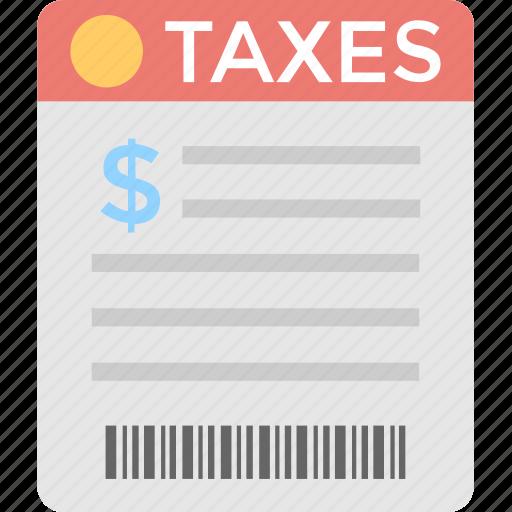 accounting, bill, invoice, taxation, taxes icon