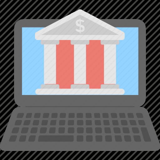bank, ebanking, finance, laptop, payment icon