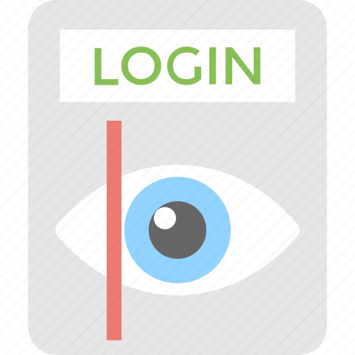 biometric, eye, identification, login, recognition icon