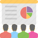 lecture, meeting, presentation, seminar, training icon