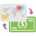 banking, banknote, credit card, finance, payment icon