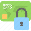 card security, credit card, debit card, lock, security icon