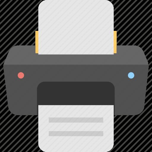 facsimile, fax, office supplies, printer, printing icon