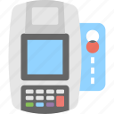 banking, card machine, card terminal, credit card, payment icon