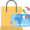 bag, credit card, ecommerce, payment, shopping icon