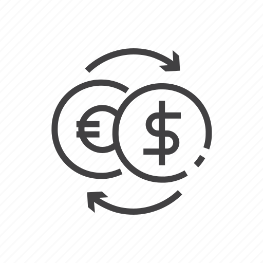 bank, currency, exchange, finance, transfer icon