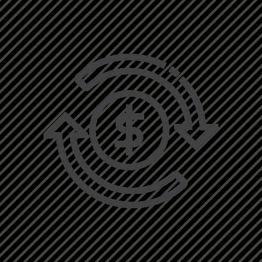 arrows, chargeback, refresh, refund, restore icon