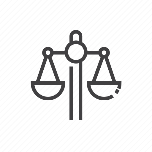 law, measure, measurement, scale, weighing icon