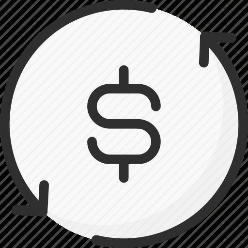 bank, banking, dollar, exchange, finance, money, update icon
