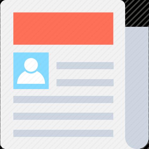 application, biodata, cv, report, resume icon