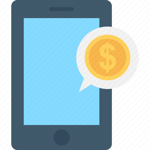 dollar, mobile, mobile banking, sms, sms banking icon
