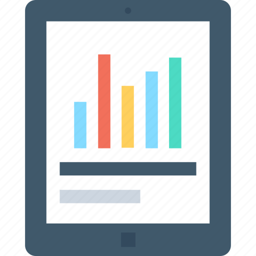 analytics, graph, infographic, mobile, mobile graph icon