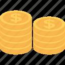 banking, dollar coin, usd, dollar, currency