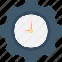 schedule, time management, deadline, cog, time