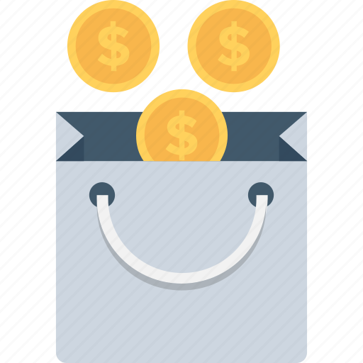 bag, dollar, money bag, shopping, shopping bag icon