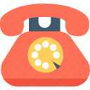 call, communication, landline, retro phone, telephone icon