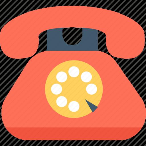 call, communication, landline, retro phone, telephone icon