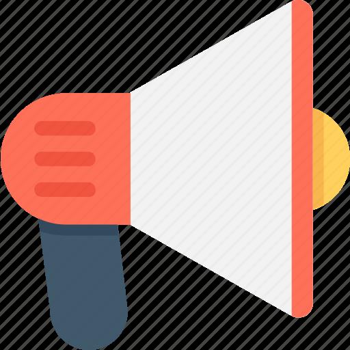 Announcement, bullhorn, loudspeaker, megaphone, speaking trumpet icon - Download on Iconfinder