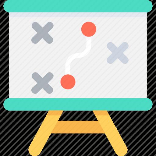 marketing, plan, presentation, strategy, tactic icon