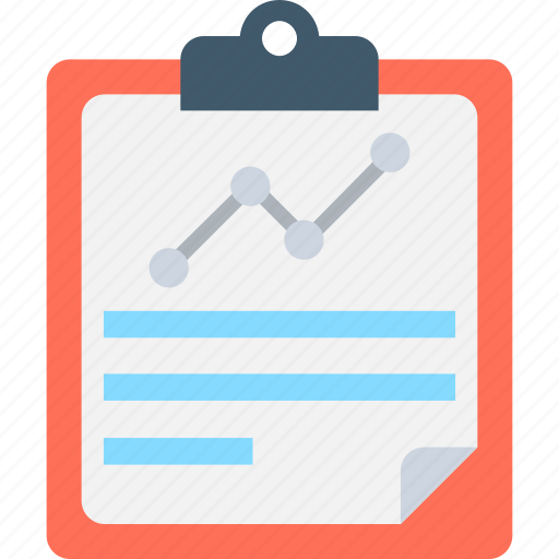 analysis, clipboard, graph report, report, statistics icon