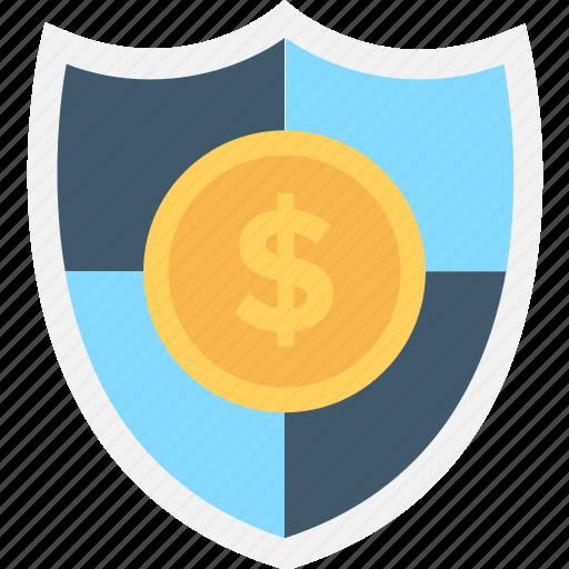dollar, locker, money protection, security, shield icon