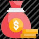 banking, business, dollar, money bag, wealth