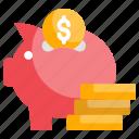 account, finance, coin, money, piggy bank