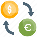 account, currency exchange, dollar, finance, money icon