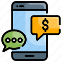 business, message, money, sms transaction, technology