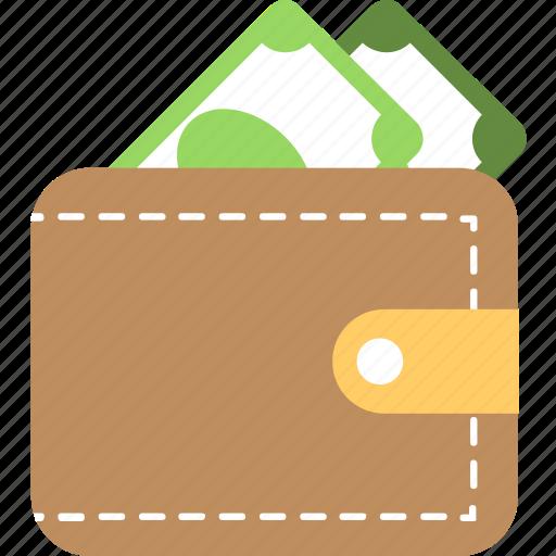 banknote, billfold, cash, purse, wallet icon