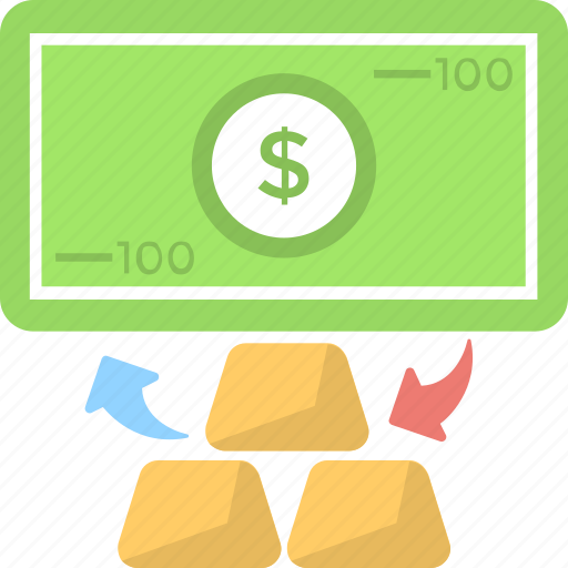 banknote, cash, gold, reserve, wealth icon