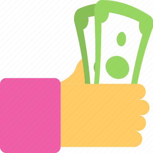 banknote, cash, cash in hand, money, payment icon