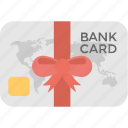 bank card, banking, credit card, gift card, money card icon
