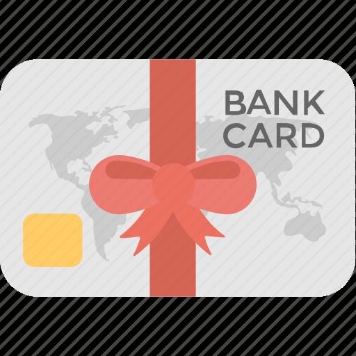bank card, banking, credit card, gift card, money card icon