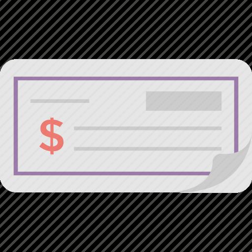 banking, cheque, receipt, tally, voucher icon