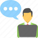 chat bubble, communication, consult, conversation, talk icon