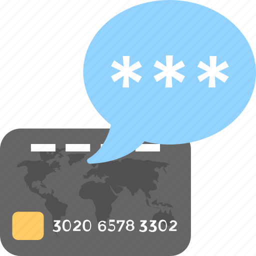 Credit card, card security, atm card, password, atm pin icon - Download
