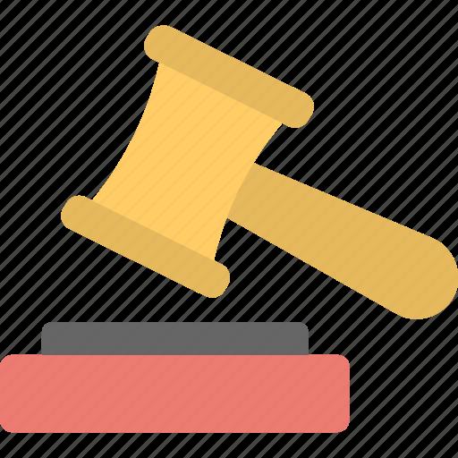 auction, bid, court, gavel, mallet icon