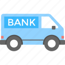 bank van, lorry, security, transport, truck icon